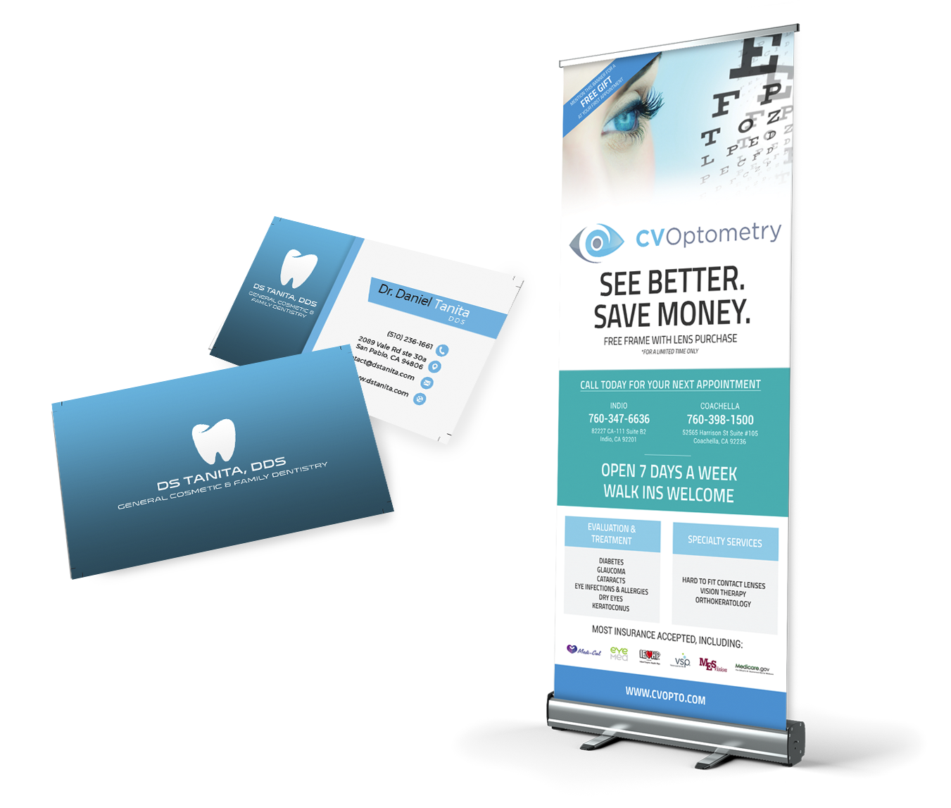 graphic design for optometrists, dentists, and doctors